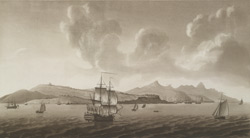 A View of Morne Fortunea part of Carenage Bay and part of the Grand Cul-de-Sack Bay, in the Island of St. Lucia